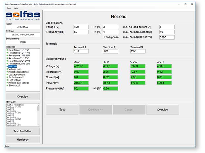 Solfas Test Software Suite – Solfas – Ingenious Measurements
